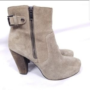 Steve Madden Ankle Boots Bootie Suede  Camel 7M